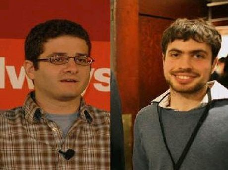 Facebook co-founder Dustin Moskovitz (left) and Justin Rosenstein